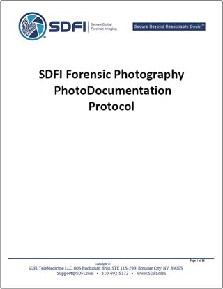 SDFI Forensic Photography Photodocumentation Protocol